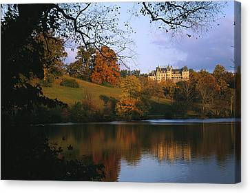 Autumn Scenes Canvas Print - The Biltmore Estate Is Reflected by Melissa Farlow