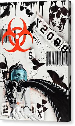 The Biohazard Bargain Barcode Canvas Print by Tai Taeoalii