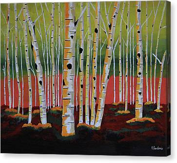 The Birch Forest Canvas Print