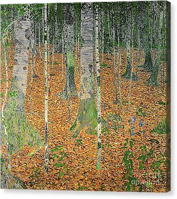 1918 Canvas Print - The Birch Wood by Gustav Klimt