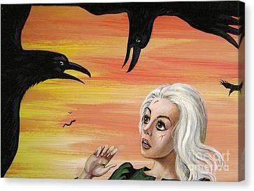 The Birds Canvas Print by Margaryta Yermolayeva
