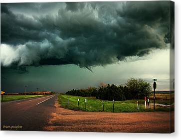 The Birth Of A Funnel Cloud Canvas Print by Brian Gustafson
