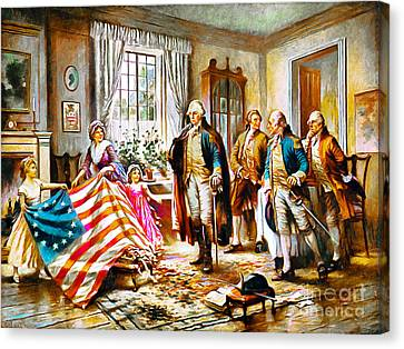 The Birth Of Old Glory Redux 20150710 Canvas Print
