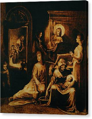 The Birth Of The Virgin Canvas Print by Dino Muradian