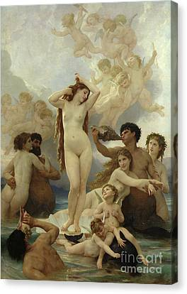Beautiful Canvas Print - The Birth Of Venus by William-Adolphe Bouguereau