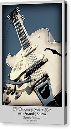 Memphis Recordings Canvas Print - The Birthplace Of Rock N Roll by Stephen Stookey