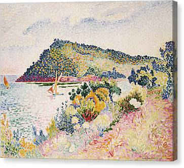 The Black Cape Pramousquier Bay Canvas Print by Henri-Edmond Cross