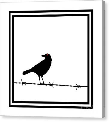 The Black Crow Knows T-shirt Canvas Print by Edward Fielding
