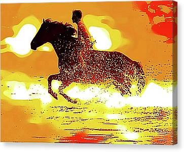 The Black Stallion Poster Canvas Print