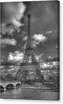 Trocadero Canvas Print - Eiffel Tower Black And White by Chris Coleman