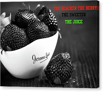 The Blacker The Berry Canvas Print by Jerome Lynch