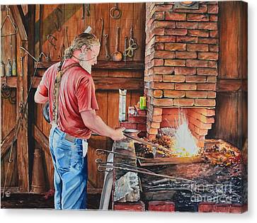 The Blacksmith Canvas Print by Gina Croce