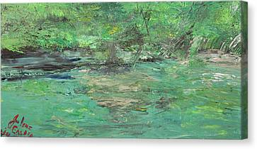 The Blanco At Wimberly Canvas Print by Julene Franki
