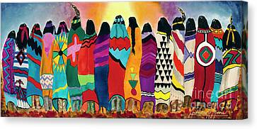 The Blanket Dancers Canvas Print by Anderson R Moore