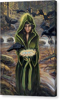 Canvas Print featuring the painting The Blessing by Kurt Jacobson