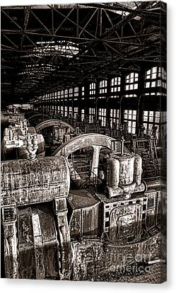 The Blower House At Bethlehem Steel  Canvas Print by Olivier Le Queinec