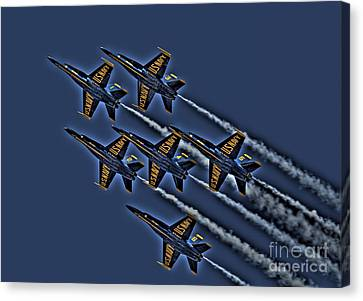 The Blue Angels Canvas Print by Corky Willis Atlanta Photography