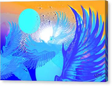 The Blue Avians Canvas Print