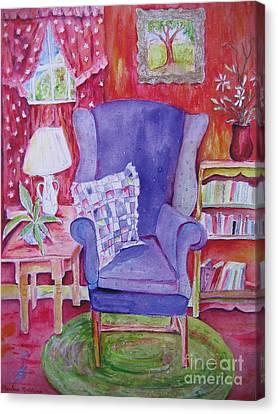 The Blue Chair Canvas Print by Marlene Robbins