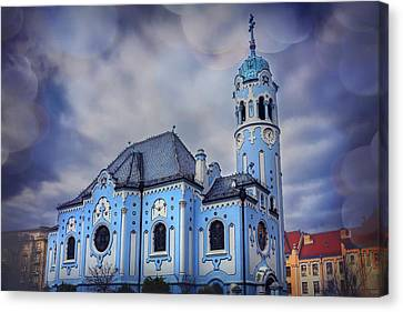 The Blue Church In Bratislava Slovakia Canvas Print by Carol Japp