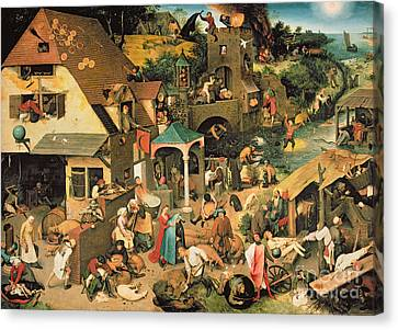 Bruegel Canvas Print - The Blue Cloak by Pieter the Elder Bruegel