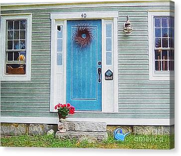 The Blue Door Canvas Print by Lisa Gilliam