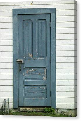 The Blue Door Canvas Print by Mg Blackstock
