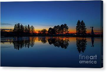 The Blue Hour.. Canvas Print by Nina Stavlund