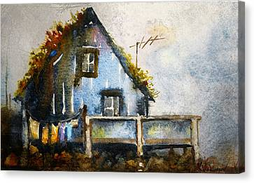 The Blue House Canvas Print by Kristina Vardazaryan