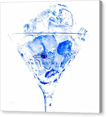 The Blue Ruby Martini Canvas Print by Rene Triay Photography