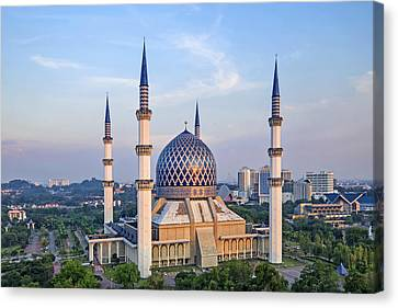 The Blue Masjid Canvas Print by Mohd Rizal Omar Baki