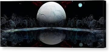 The Blue Moon  Canvas Print