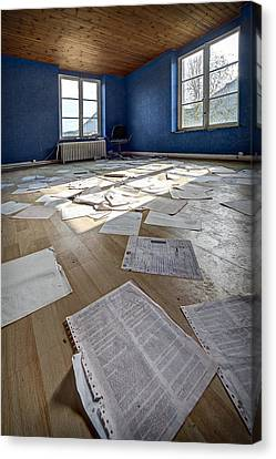 The Blue Office Abandoned - Urban Exploration Canvas Print by Dirk Ercken