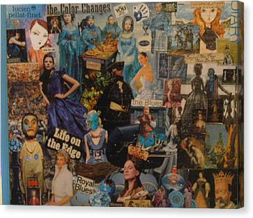 The Blue People Canvas Print by Becky Jenney