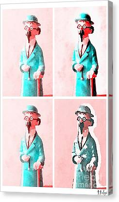 Bandes Dessinees Canvas Print - The Blue Professor by Helge