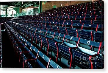 The Blue Seats Canvas Print
