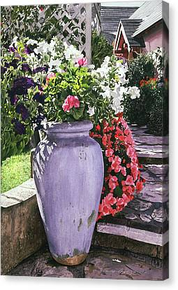 Selecting Canvas Print - The Blue Urn by David Lloyd Glover