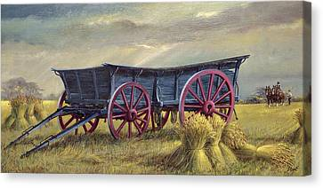 The Blue Wagon Canvas Print