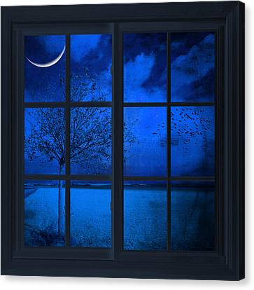 The Blue Window Canvas Print by Philippe Sainte-Laudy