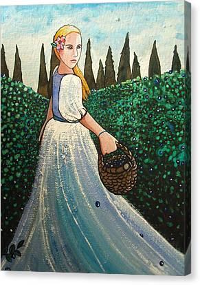 The Blueberry Harvest Canvas Print