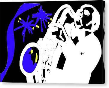 The Blues Canvas Print by Al Bourassa