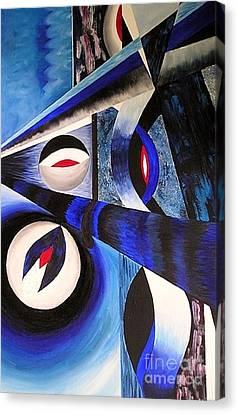 The Blues Canvas Print by Anna-maria Dickinson