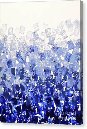 The Blues Blocks Canvas Print by Jilian Cramb - AMothersFineArt