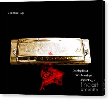 The Blues Harp Canvas Print by Steven  Digman