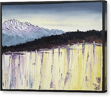 The Bluff And The Mountains Canvas Print by Carolyn Doe