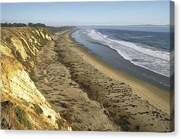 The Bluffs Of Ellwood Beach At Coal Oil Canvas Print by Rich Reid