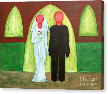 The Blushing Bride And Groom Canvas Print by Patrick J Murphy
