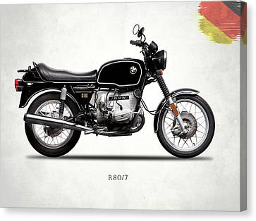 Bmw Canvas Print - The Bmw R80 1978 by Mark Rogan
