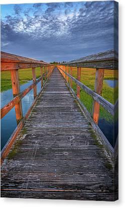 The Boardwalk In The Marsh Canvas Print by Rick Berk