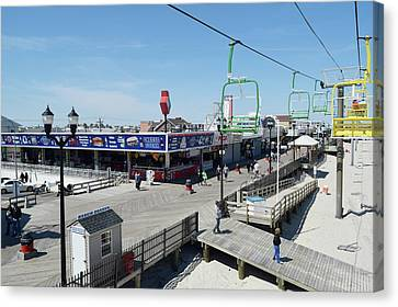 The Boardwalk At Seaside Canvas Print by George Martinez